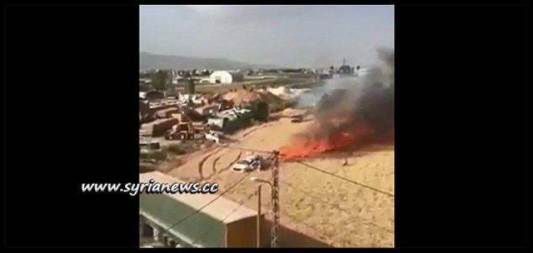 Kurdish PYD Asayish SDF Torching Wheat Farms in Qamishli