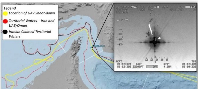 Locatio where US Drone was bombed by Iran