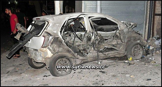 Sweida terrorist attack using booby trapped motorbike