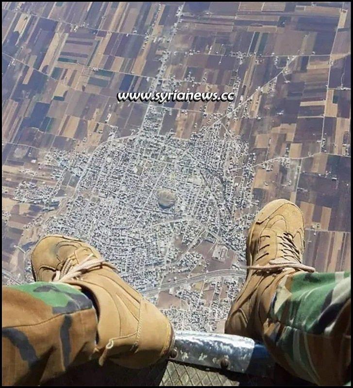 SAA Syrian Arab Army over Khan Sheikhoun - Idlib