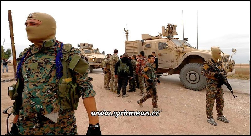 US Military - Kurdish Separatist SDF Militia Illegal Cooperation Northeast of Syria