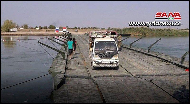 Deir Ezzor new floating bridge - Syria