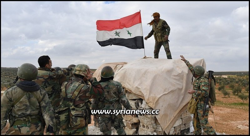SAA Syrian Arab Army reach Turkish borders secure villages - File Photo