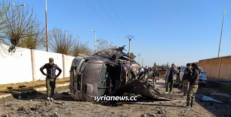 Civilians killed in explosion in Tal Abiad - Raqqa Countryside - Syria