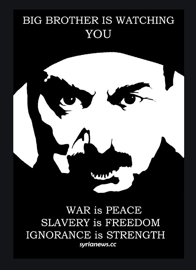 War is peace - slavery is freedom - ignorance is strength