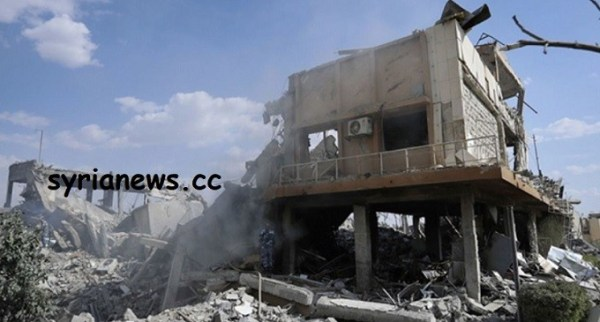 barzeh bombed by tripartite aggressors
