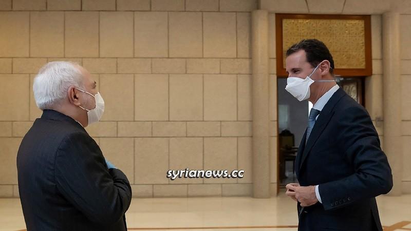 President Bashar Assad Receives Iranian Foreign Minister Javad Zarif in Damascus