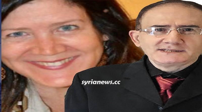 Lebanese Judge Mohammad Mazeh (Right) - US Ambassador to Lebanon Dorothy Shea (Left) القاضي اللبناني محمد مازح (يمين الصورة) والسفيرة الأميريكية للبنان المندوبة السامي دوروثي شيا (يسار)