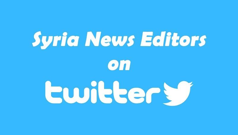 Syria News Editors Miri Wood and Arabi Souri on Twitter