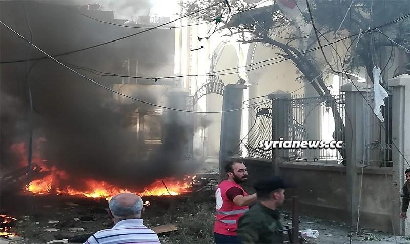 NATO Bomb detonated in front of Virgin Mary Church - Qamishli - Hasakah Syria