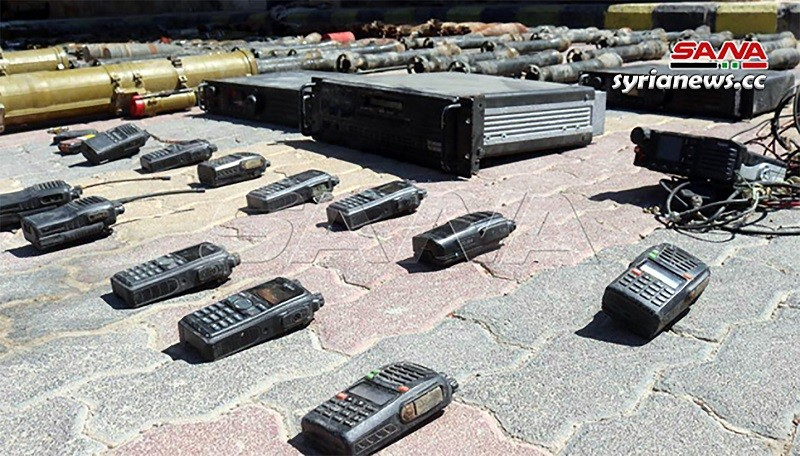 Communication devices left behind by US-sponsored ISIS terrorists in Al Mayadeen