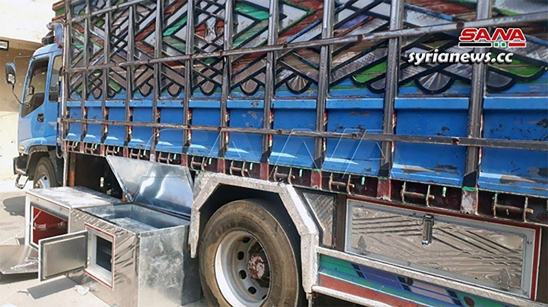 Syrian authorities seize truck stuffed with captagon pills in Homs countryside
