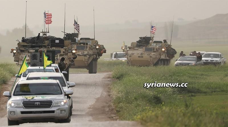 Kurdish SDF and US forces north Syria