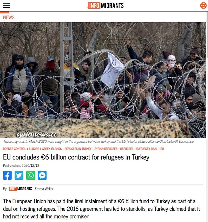 EU Paid Erdogan 6 billion Euros for refugees in Turkey