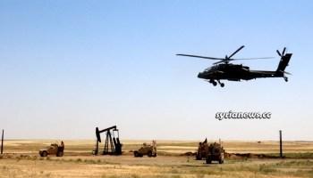 Kurdish SDF terrorists US army helicopter Syria oil