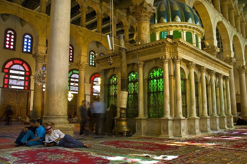 The shrine and tomb of John the Baptist Umayyad Mosque Damascus Syria