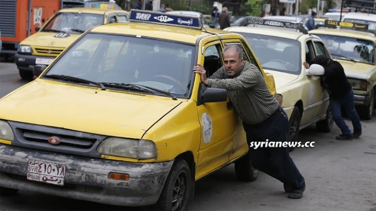 Gasoline and diesel fuel shortage in Syria because of the US blockade and looting Syria's oil