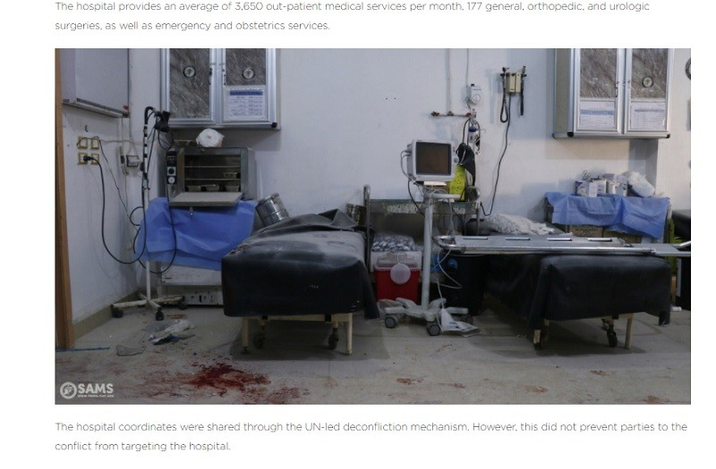 UNSC ok with lying about fake hospitals.