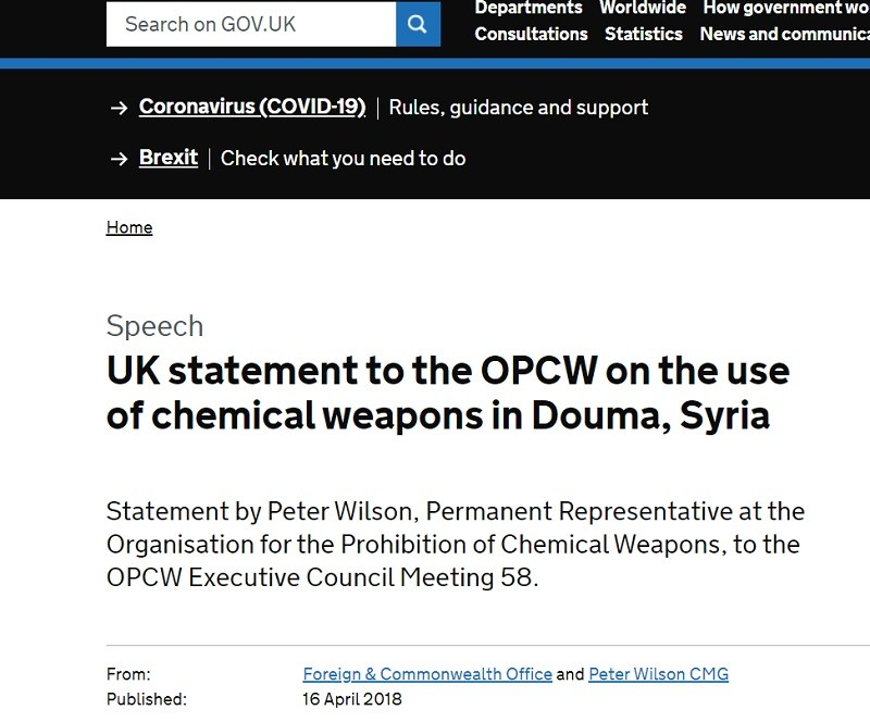 UK issues chemical weapons lies for al Qaeda against Syria