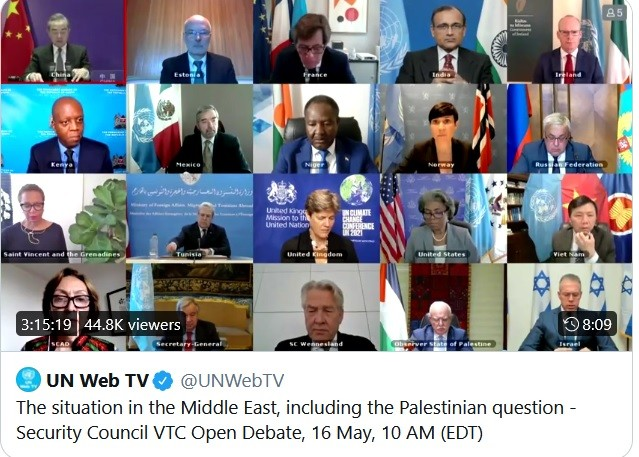 UNSC held special meeting on false equivalency of Israel and Palestinians.