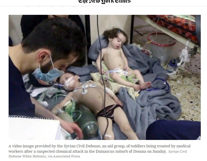False flag chemical attack in Douma was again mass murder.