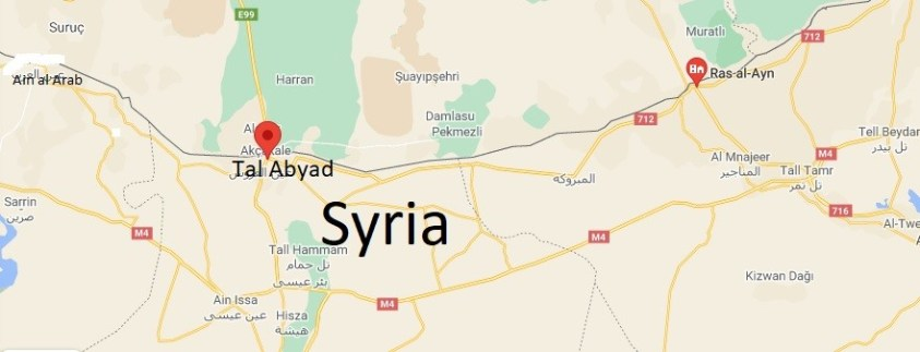 Tal Abyad & Ras al Ain are part of Syria