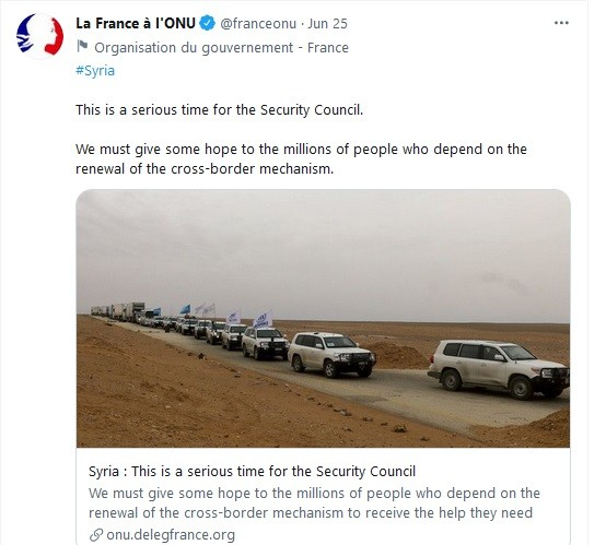 France supports terrorists in Syria
