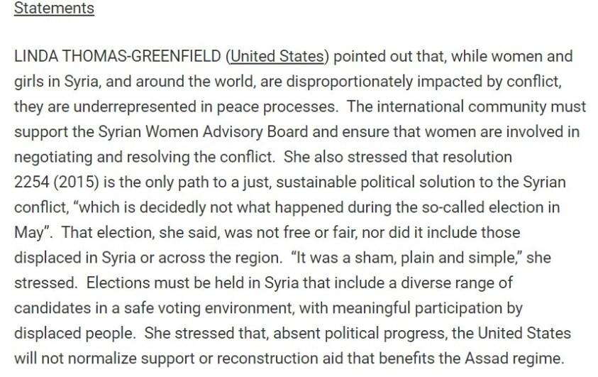 UNSC klan runs various Syrian women's groups.