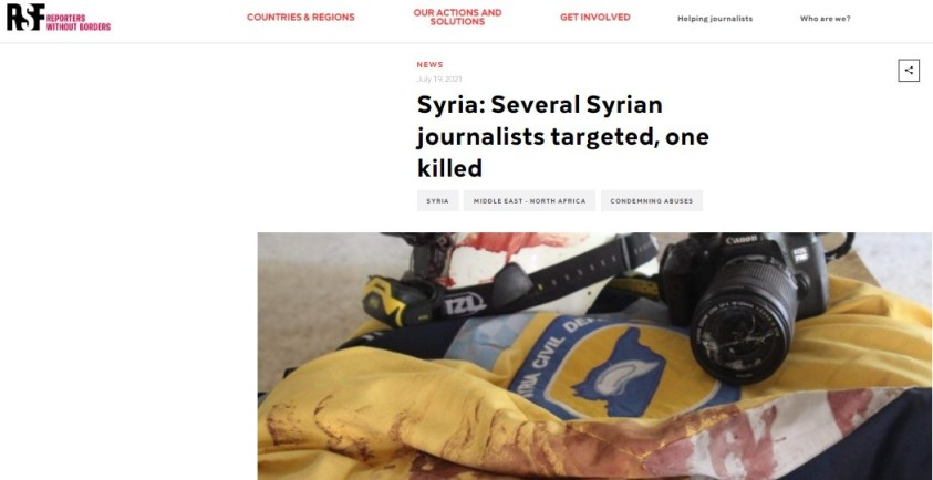 RSF, White Helmet terrorists and expensive cameras funded by American taxpayers.
