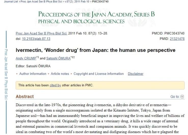 Ivermectin, the Wonder Drug from Japan