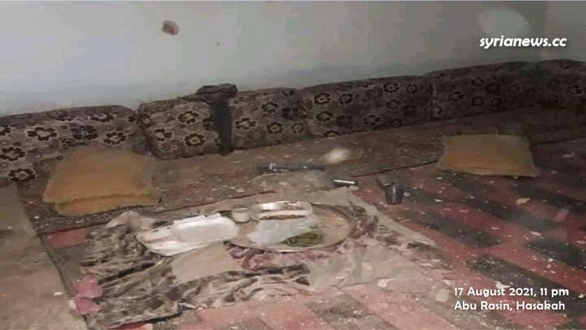 House damaged by Erdogan terrorists shelling Abu Rasin, Hasakah