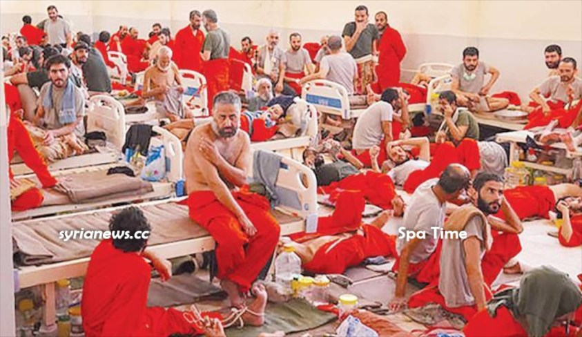 ISIS terrorists in US-sponsored Kurdish SDF terrorists SPA for Rehabilitation