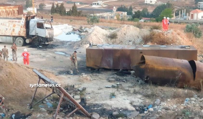 Lebanon Akkar oil tanker explosion kills and injures 100 people