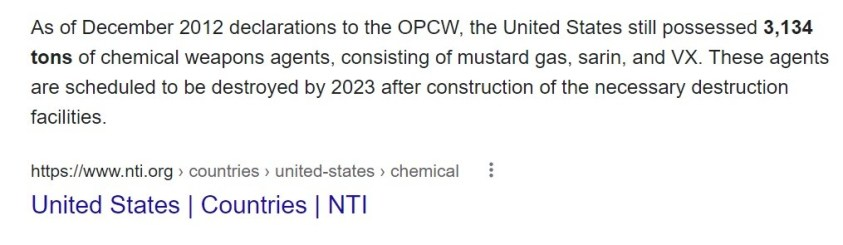 Reminder to UNSC member Thomas-Green that the US still has 3 tons of chemical weapons not turned in.