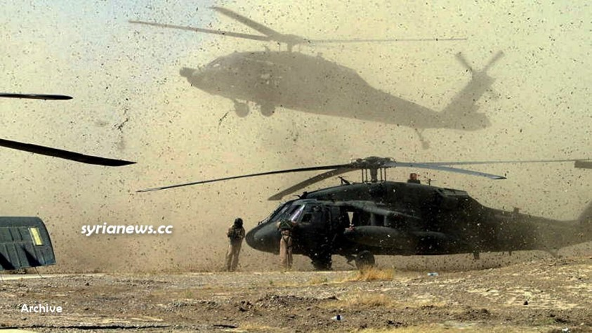 US troops Biden forces in Syria - Helicopter
