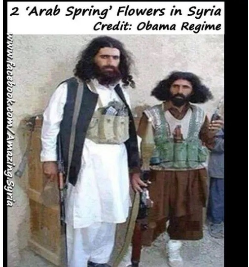 Armed foreign terrorists in Syria applauded; not Taliban.