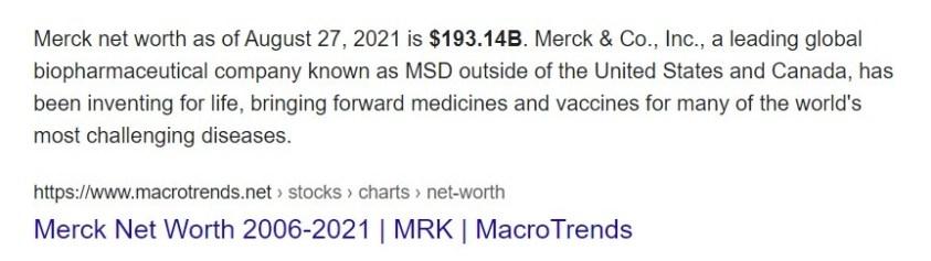 Merck has led the smear campaign against ivermectin.