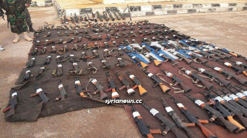 Daraa Balad - weapons confiscated from ISIS and Al Qaeda terrorists