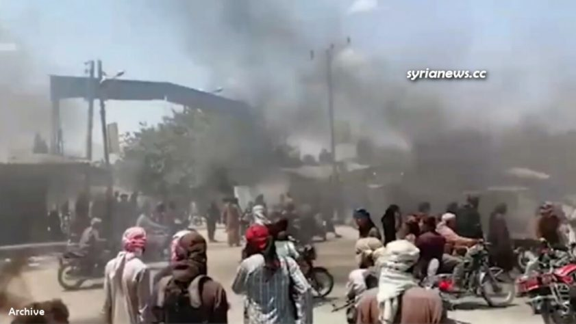 Protests against US-sponsored Kurdish SDF separatist terrorists in northern Syria - archive