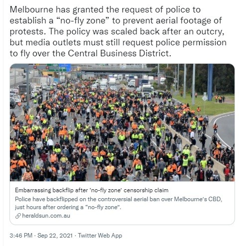 Melbourne gestapo called for a No Fly Zone. Guterres knows what this means.
