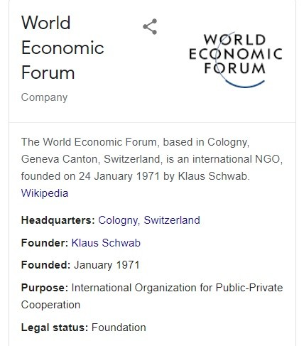 PPP (tax-funded, profits private) World Economic Forum addressed by Guterres January 2021.
