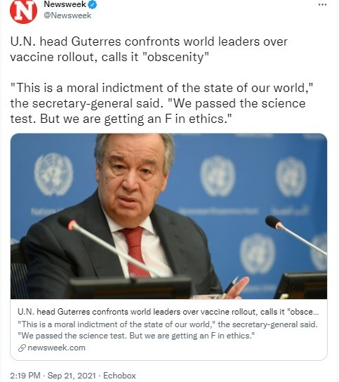 One sample of the 5th column stenographers in a swoon over Guterres wrapped in his white saviorism.