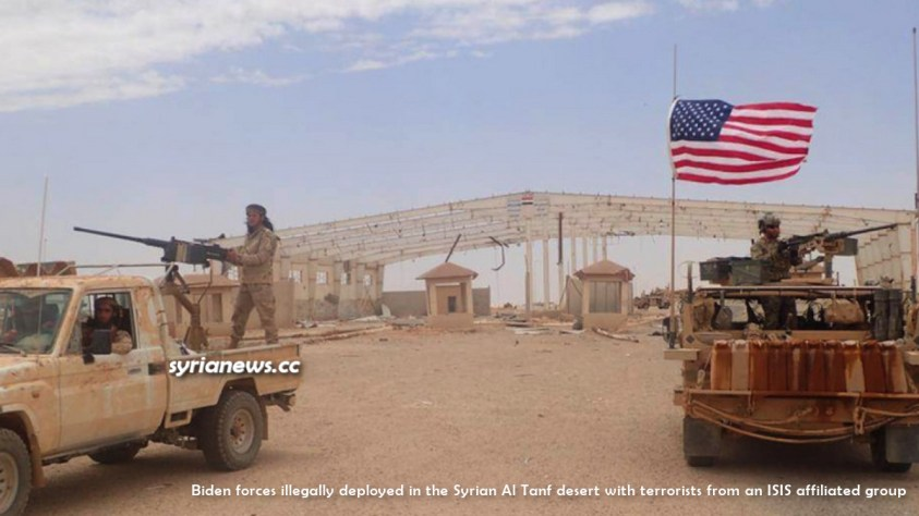 US Biden forces in the Al Tanf in the Syrian desert