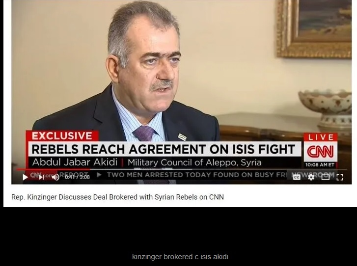 Kinzinger met with ISIS supporter in Turkey. He also supports the SDF in Syria.