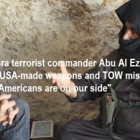 """""""Americans are on our side"""": Al-Nusra terrorist-commander says U.S. arming jihadists [also with TOW anti-tank missiles]"""
