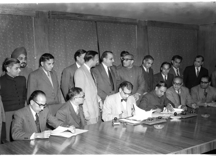 زيارة الرئيس شكري القوتلي الى الهند 1957