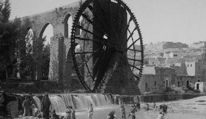 نواعير حماة في بداية القرن الماضي