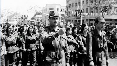 مشاركة نسائية باحتفالات يوم الجلاء بدمشق- 1959