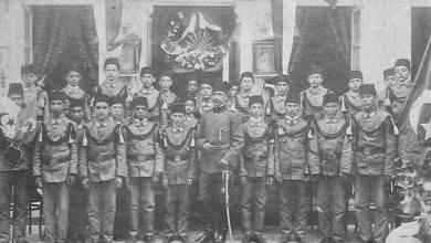 طلبة كلية الفنون الجميلة في دمشق 1909