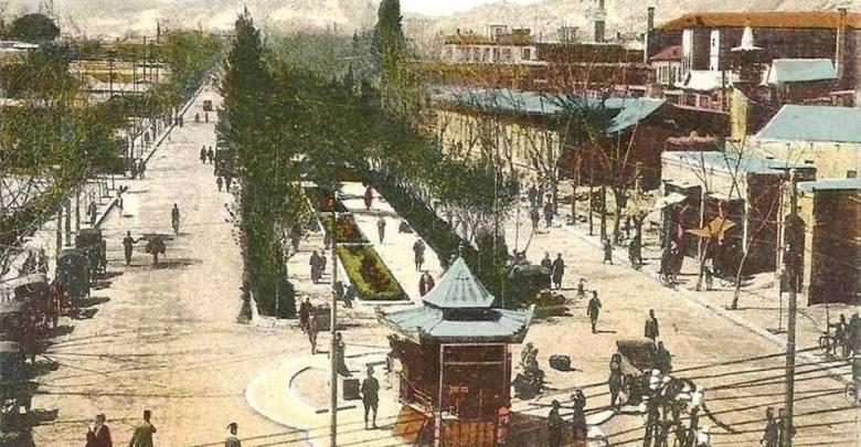 دمشق- شارع جمال باشا- النصر لاحقاُ في منتصف عشرينيات القرن العشرين